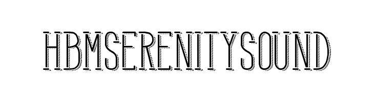 HBM Serenity Sound Font - free fonts download