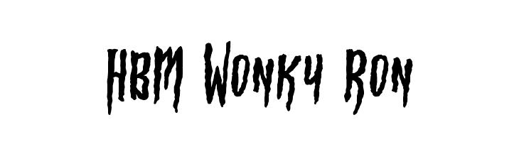 HBM Wonky Ron  Скачать бесплатные шрифты