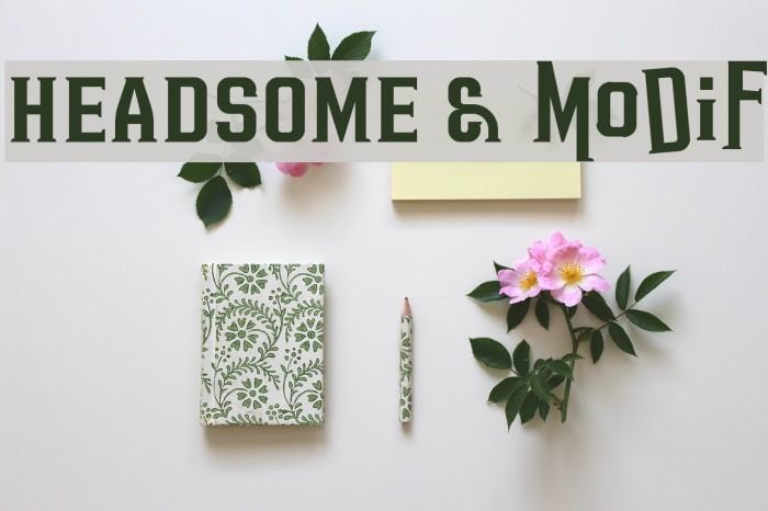 HEADSOME & modif Font examples