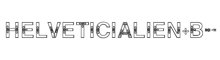 HELVETICIALIEN-Bold  Скачать бесплатные шрифты