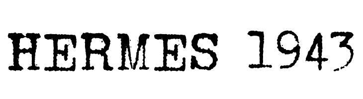 HERMES 1943  Скачать бесплатные шрифты
