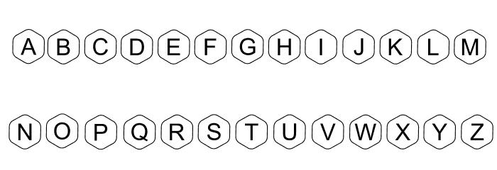HEX Font Regular Шрифта ВЕРХНИЙ