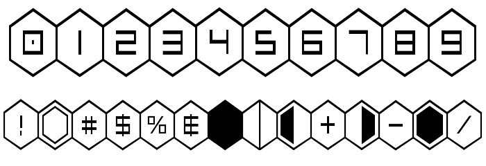 HEX:gon Condensed Font Alte caractere