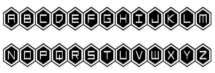 HEX:gon Condensed Font Litere mari