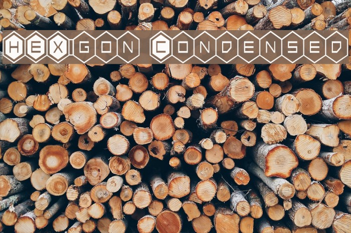 HEX:gon Condensed Font examples