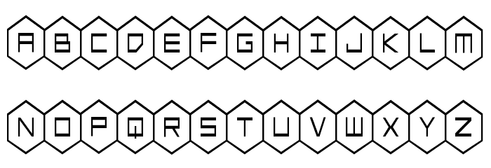 HEX:gon Condensed Font Litere mici