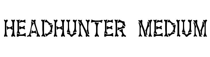 Headhunter Medium  Скачать бесплатные шрифты