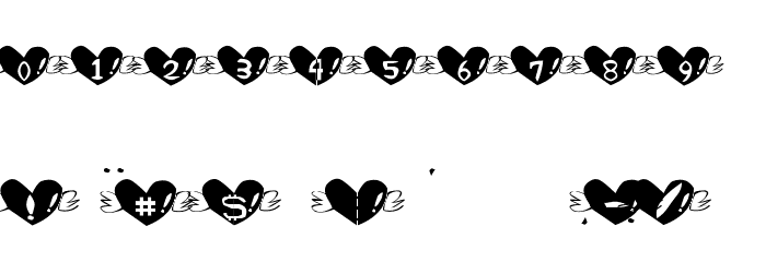 Heart Font Fonte OUTROS PERSONAGENS