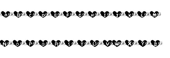 Heart Font Fonte MAIÚSCULAS