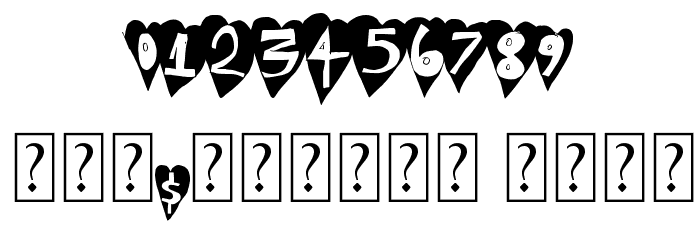 HeartBeat Font OTHER CHARS