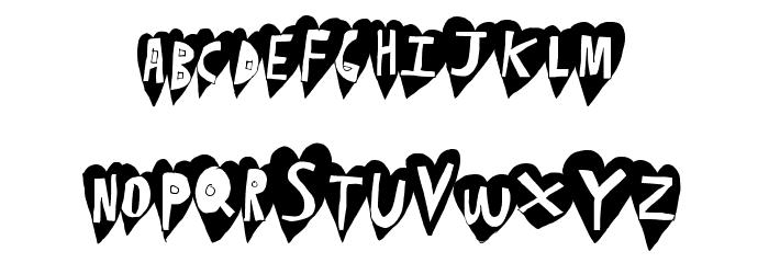 HeartBeat Font UPPERCASE