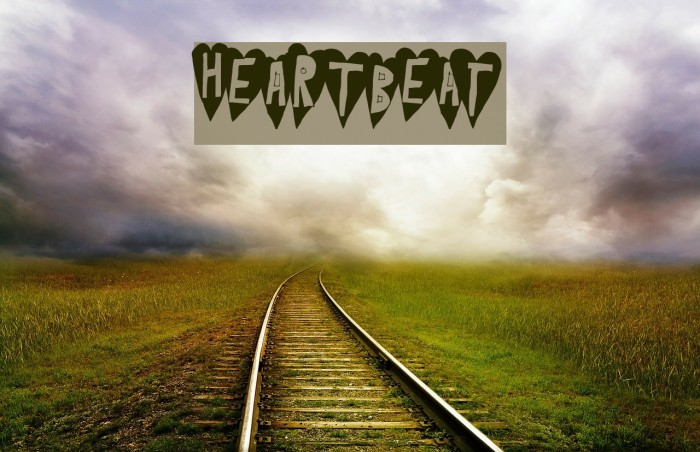 HeartBeat Font examples