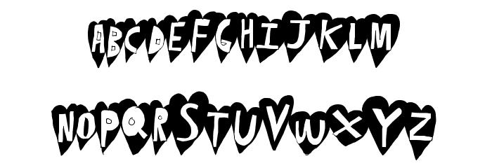 HeartBeat Font LOWERCASE