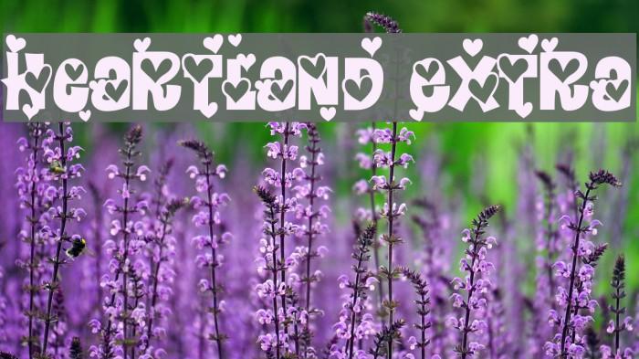 Heartland Extra Font examples