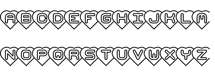Hearts -BRK- Font LOWERCASE