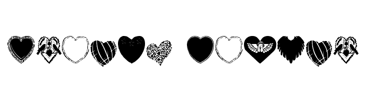 Hearts Galore  नि: शुल्क फ़ॉन्ट्स डाउनलोड
