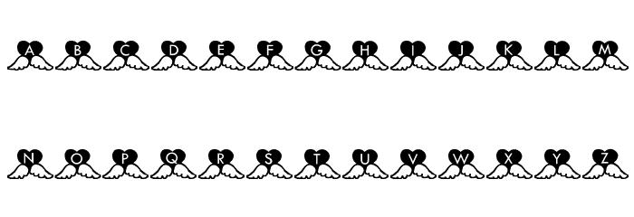 Hearts لخطوط تنزيل الأحرف الكبيرة
