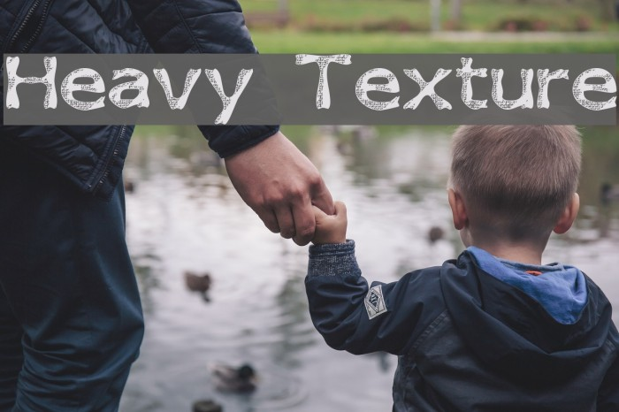 Heavy Texture Font examples