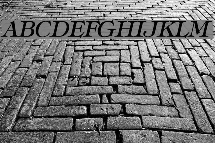 Hebrew Italic Font examples