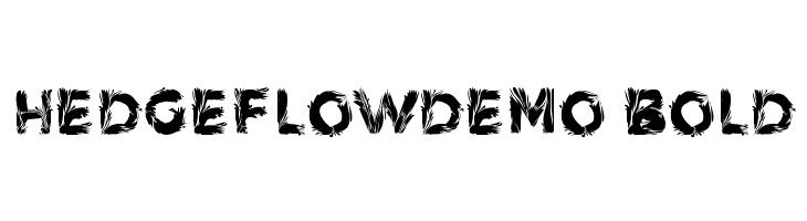 HedgeFlowDemo Bold  Free Fonts Download