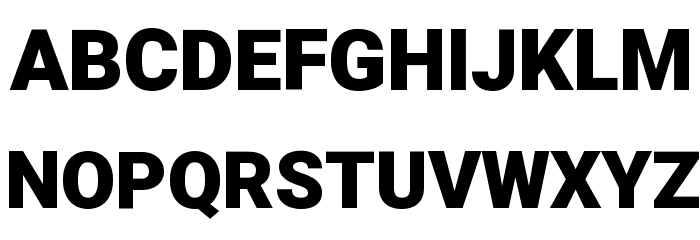 Heebo Black Font UPPERCASE