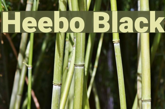 Heebo Black Font examples