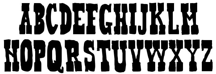 Heffer Font UPPERCASE