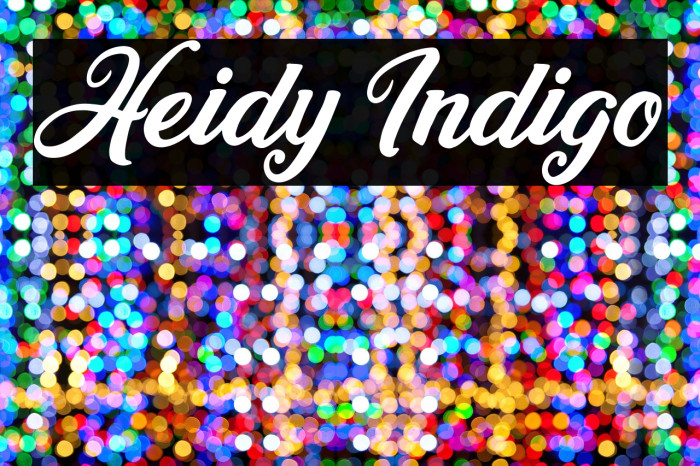 Heidy Indigo لخطوط تنزيل examples