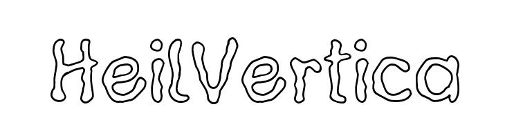 HeilVertica  Скачать бесплатные шрифты