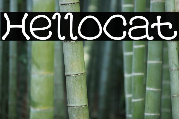 HelloCat Font examples
