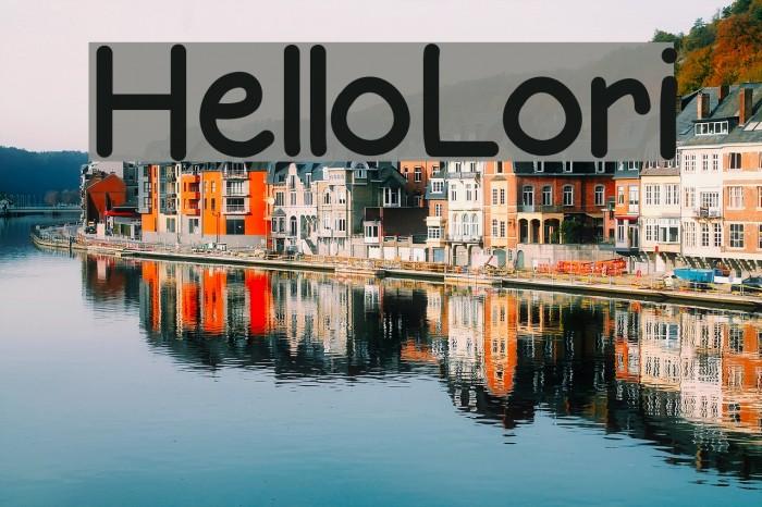 HelloLori Font examples