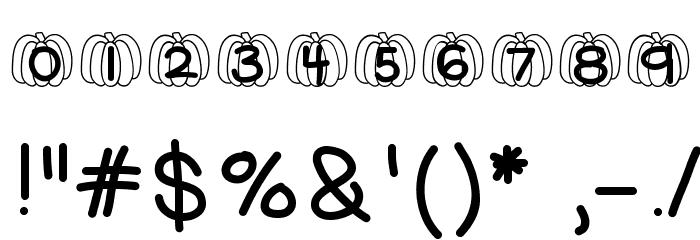 HelloPumpkin Font Alte caractere