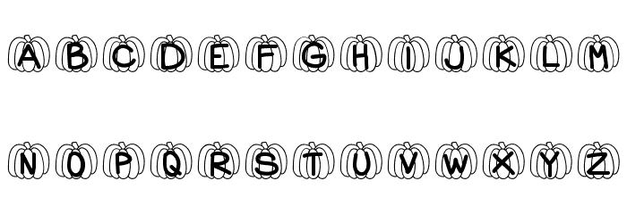 HelloPumpkin Font Litere mari