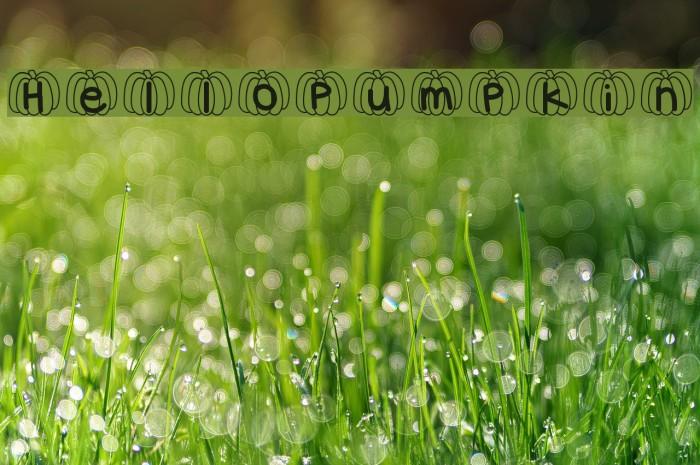 HelloPumpkin Font examples
