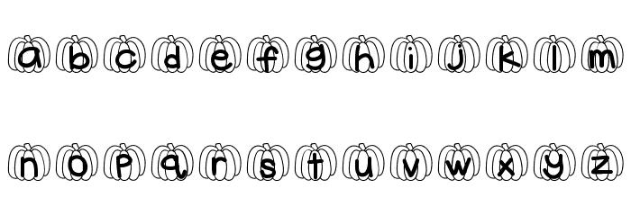 HelloPumpkin Font Litere mici