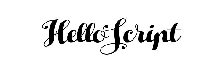 HelloScript  Free Fonts Download