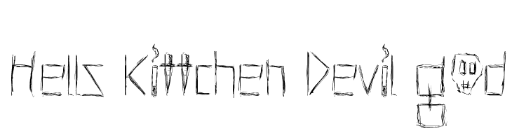 Hells Kittchen Devil God  Скачать бесплатные шрифты