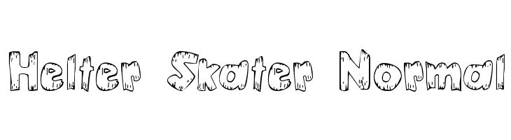 Helter Skater Normal  Free Fonts Download