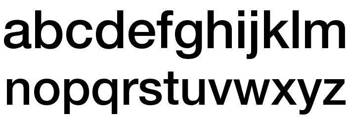 HelveticaNeueLTPro-Md Font LOWERCASE