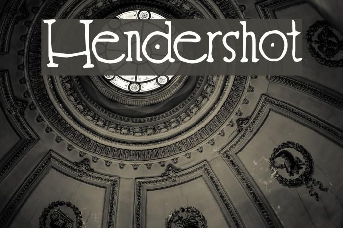 Hendershot फ़ॉन्ट examples