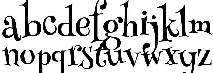 Henny Penny Font LOWERCASE