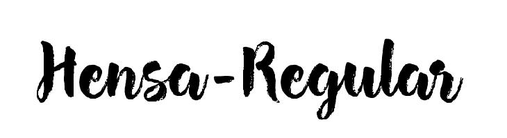 Hensa-Regular Font
