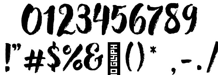 Hensa-Regular Font OTHER CHARS