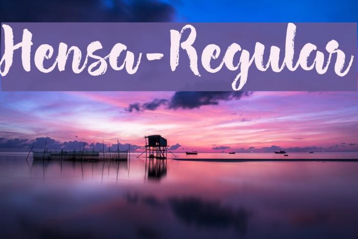 Hensa-Regular Font examples