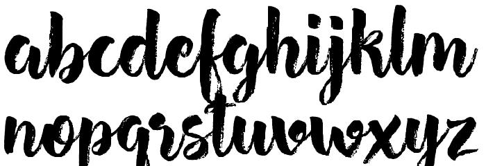 Hensa-Regular Font LOWERCASE