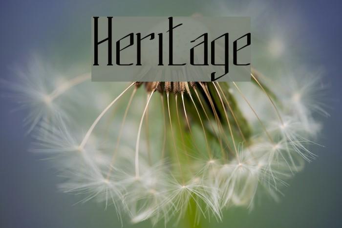 Heritage फ़ॉन्ट examples