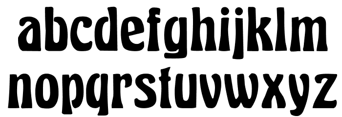 Herkules Font LOWERCASE