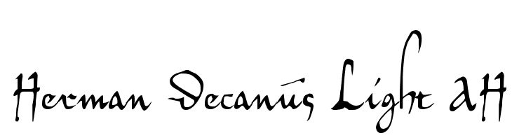 Herman Decanus Light AH  Free Fonts Download