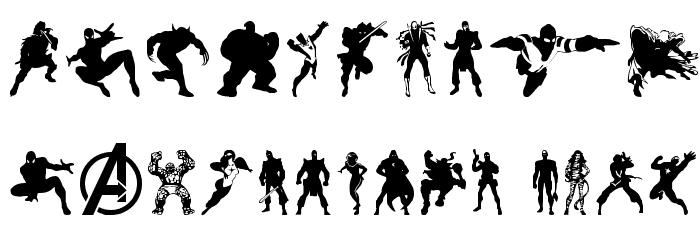 Heroes Assemble Dingbats Regular Font OTHER CHARS