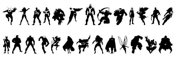 Heroes Assemble Dingbats Regular Font UPPERCASE